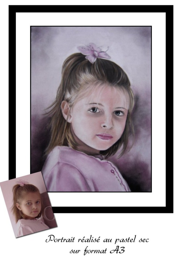 Artwork >> Laetitia Passion Dessin >> Portrait from photo