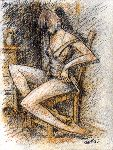 Carlos Cosme - woman in chair