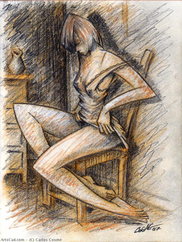 Artwork >> Carlos Cosme >> woman in chair