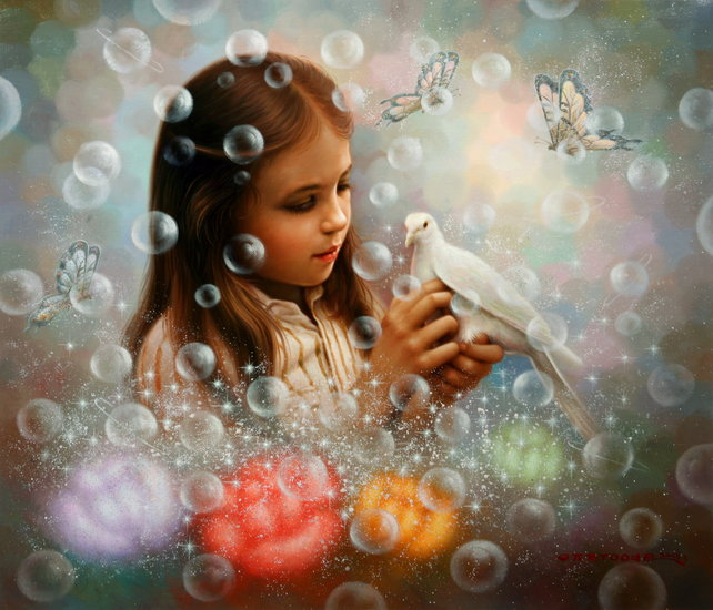 Artwork >> Yoo Choong Yeul Art >> soap bubble girl
