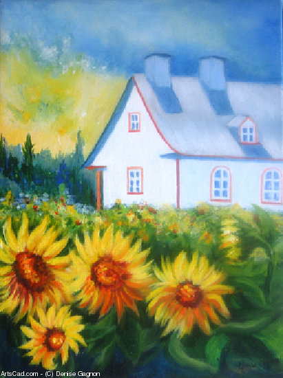 Artwork >> Denise Gagnon >> Sunflowers