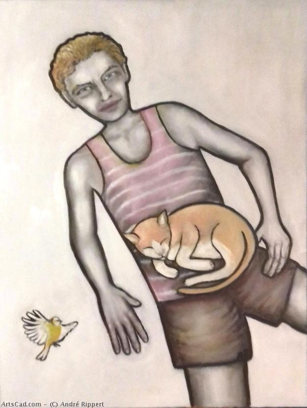 Artwork >> André Rippert >> the cat up and  The Bird
