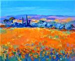 Alain Demarte - POPPY AND Olive Trees