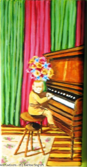 Artwork >> Denise Gagnon >> l'enfant at the piano