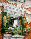 Marie-Claire Houmeau - Flowered window Venice