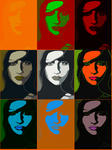 Bernth Jakobsson - popart wharhol.9 style printed on canvas
