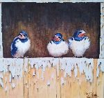 Marie-Luce Vériter - Swallows from the nest