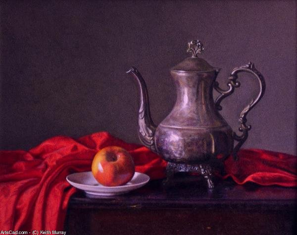 Artwork >> Keith Murray >> Silver Pitcher with Red