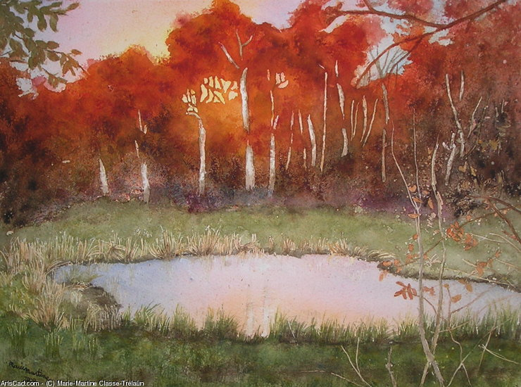 Artwork >> Marie-Martine Classe-Trélaün >> Reflections d'automne , extended version