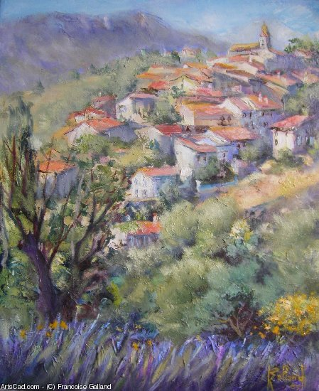 Artwork >> Francoise Galland >> village in out the  Luberon