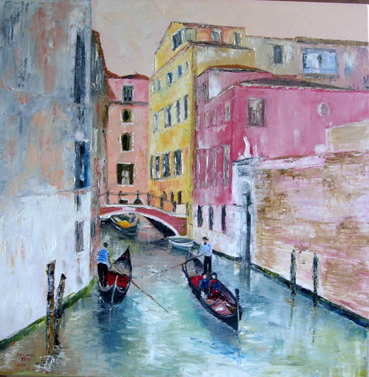 Artwork >> Sylviane Petit >> THE GONDOLIERS