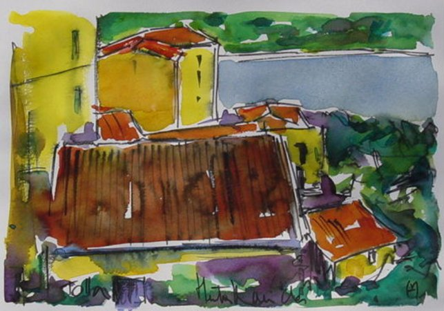Artwork >> Heritier-Marrida >> VILLAGE DE TOLLA CORSE