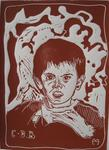 Heritier-Marrida - LETTERHEAD D-ENFANT WOOD ENGRAVING