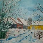 Michel Arnodo - hens place in  there  snow
