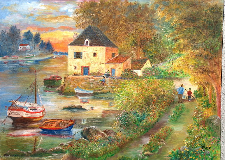Artwork >> Jean-Pierre Soula >> The Return from  there  fishing