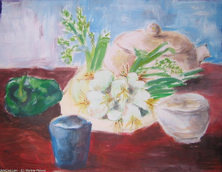 Artwork >> Martine Palisse >> Still Life with Onions