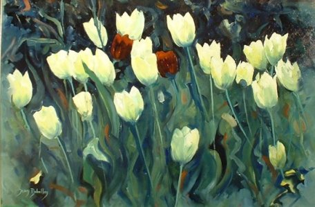 Artwork >> Jean Dubelloy >> The tulips