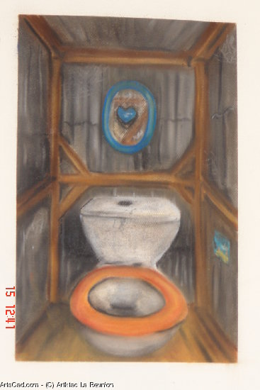 Artwork >> Artktac La Reunion >> toilet Wooden  beneath  sheet metal