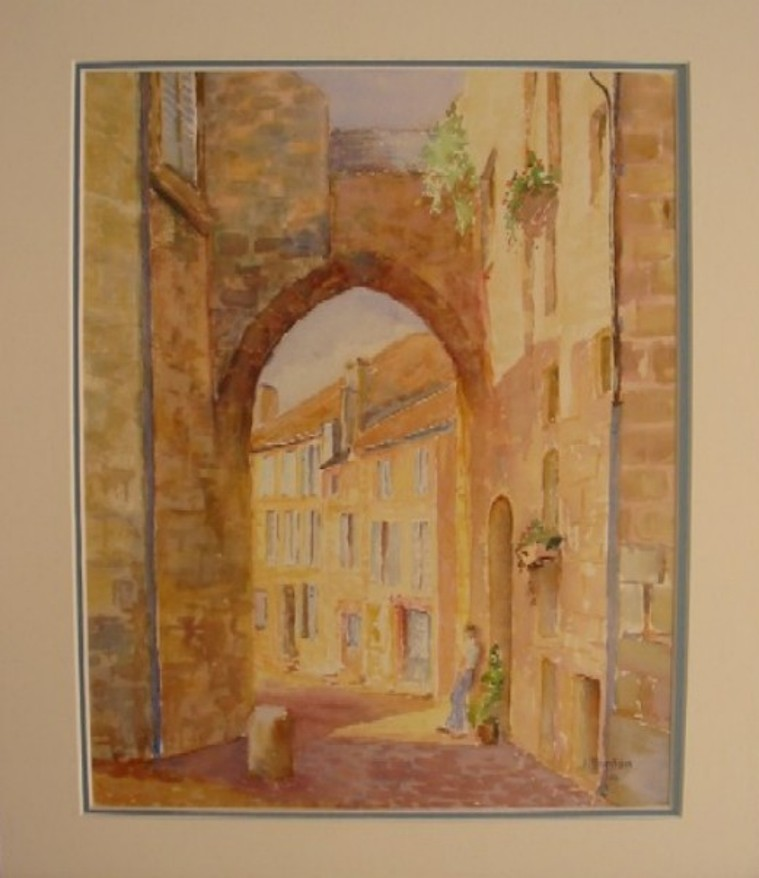 Artwork >> Jacques Fontan >> Door to ST-EMILION