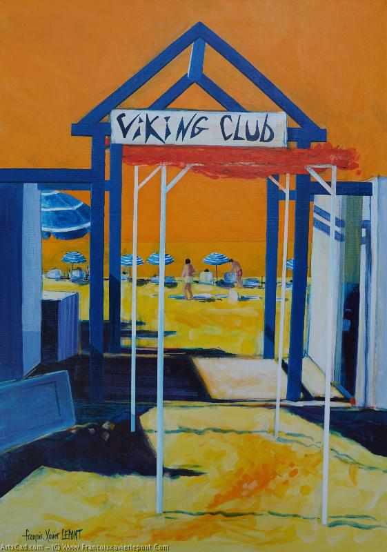 Artwork >> Francois-Xavier Lepont >> THE VIKING Club will  from  there  beach
