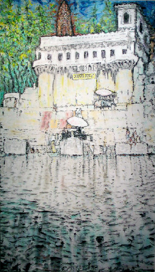 Artwork >> Richard Lazzara >> ganga mata ghat
