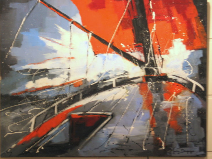 Artwork >> Jacky Dumergue >> Bad weather on the Vendée-Globe/2011