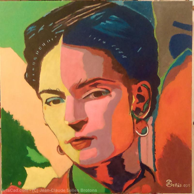 Artwork >> Jean-Claude Selles Brotons >> Frida Kahlo Mexican Artist