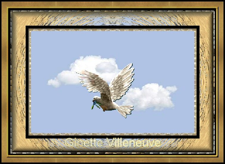 Artwork >> Ginette Villeneuve >> heaven cloud  up and  BIRD