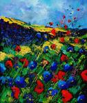 Pol Ledent - on red and blue poppies