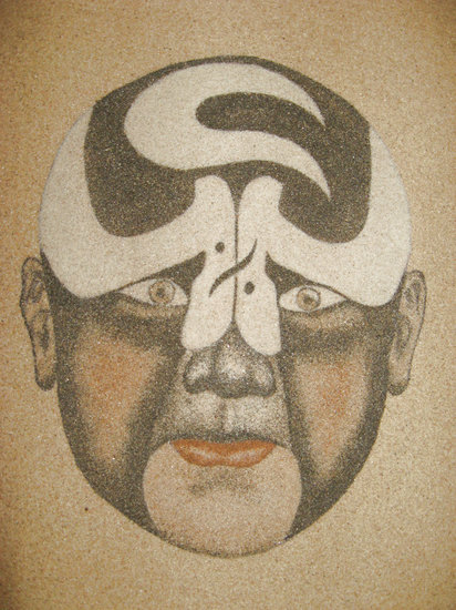 Artwork >> Sandpainting >> Sand painting - Beijing Opera Facial Masks