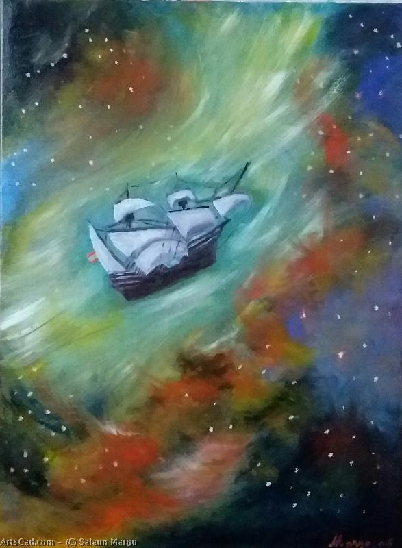 Artwork >> Salaun Margo >> The boat solar in the cloud from Magellan