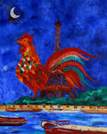 Marie-France Busset - THE ROOSTER - M - THE EIFEL TOWER IN PARIS