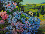 Julia Utiasheva - Landscape with the hydrangea.