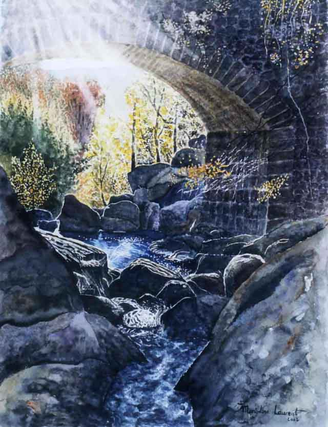 Artwork >> Marie-Line Laurent >> The bridge montvert