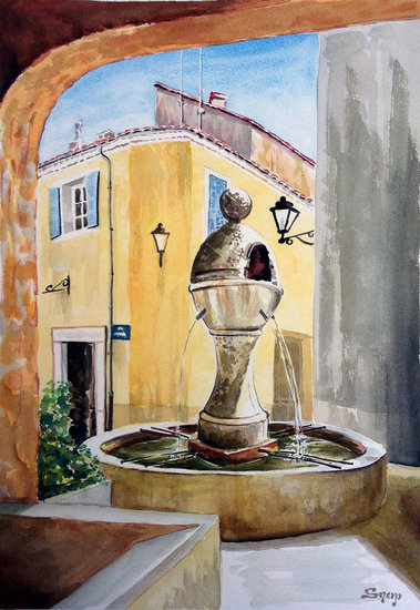Artwork >> Snop Barbouillages >> Fontaine à Peyruis (France)