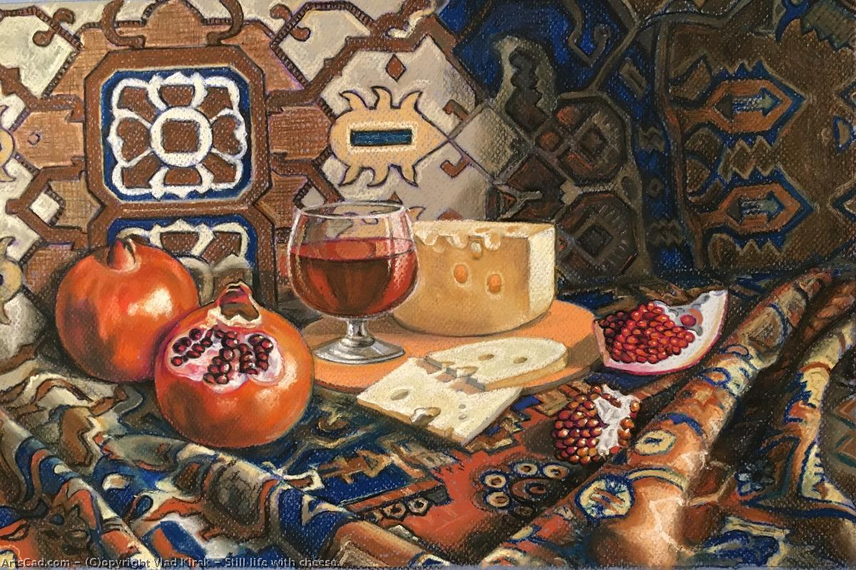 Artwork >> Vlad Kirak >> Still life with cheese.  Sold.