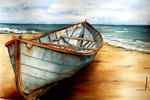 Marie-Claire Houmeau - Boat on sand