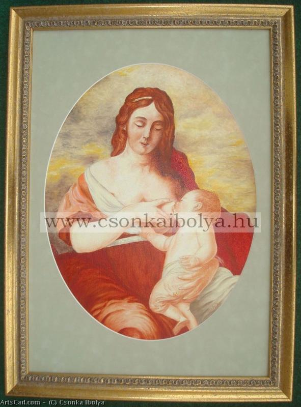 Artwork >> Csonka Ibolya >> Madonna a Gyermekkel / Madonna with the Child