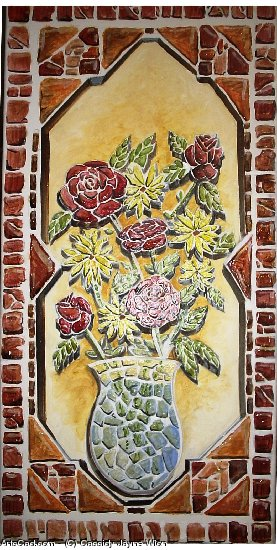 Artwork >> Cassidy Jayne Wion >> Wild Tiled Rose's and Daisey's