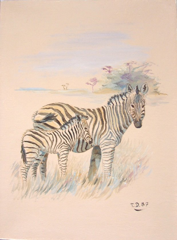 Artwork >> Till Dehrmann >> The zebras