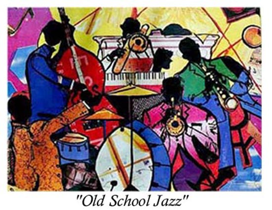 Artwork >> Everett Spruill >> Old School Jazz