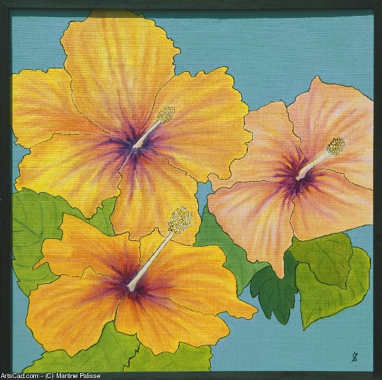 Artwork >> Martine Palisse >> THE HIBISCUS