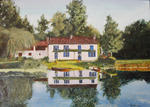 Jean-Claude Selles Brotons - the house blue coulon in the marsh Poitevein
