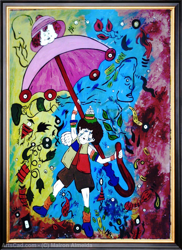Artwork >> Mairon Almeida >> the boy, the dream and the umbrella