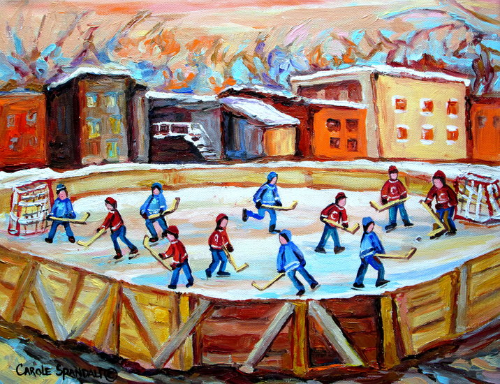 Artwork carole spandau patinoire de hockey dans la for Patinoir exterieur montreal
