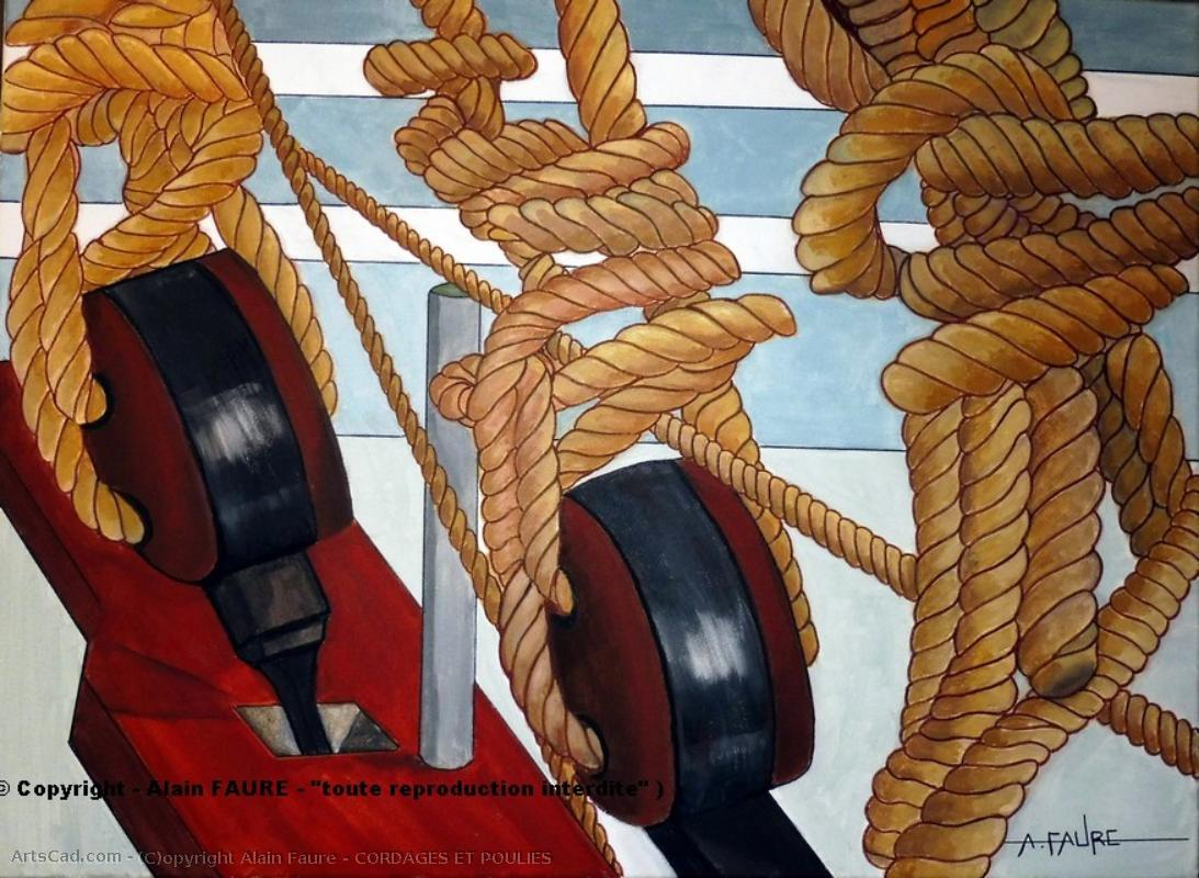 Artwork >> Alain Faure >> ROPES AND PULLEYS