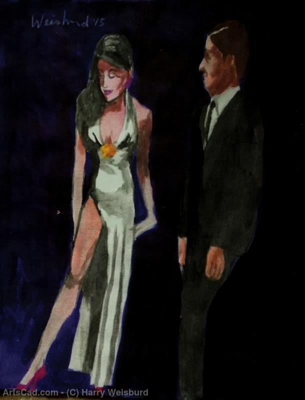 Artwork >> Harry Weisburd >> Woman in White Gown With Man 11