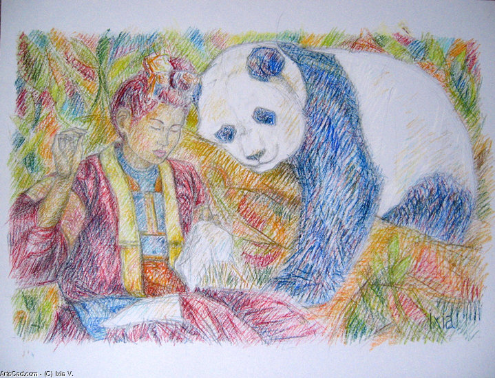 Artwork >> Ixia V. >> girl Miao to panda
