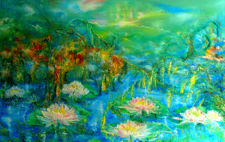 Artwork >> Dana Klein >> White Water Lillies