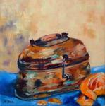 Glynis Berger - Copper box with orange